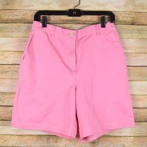 Ralph Lauren Womens 8 Pink Flat Front Shorts